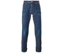 Gestreifte Skinny-Jeans
