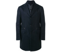 double collar single breasted coat