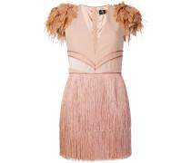 fringed V-neck dress