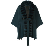 chinchilla fur lapel cape