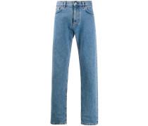 Gerade Jeans mit Logo-Stickerei