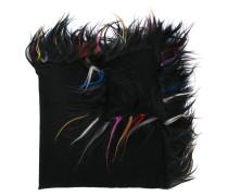 fur trimmed wrap scarf