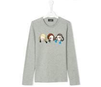 long sleeve doll motif shirt