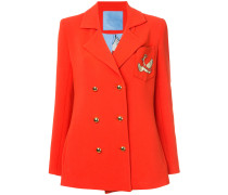 double breasted swan crest blazer