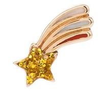 14kt Gelbgoldohrring mit Glitter