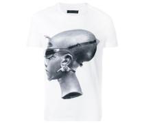 Schmales T-Shirt mit Print
