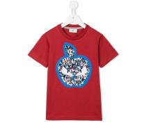 'Monster' T-Shirt mit Apfel-Print