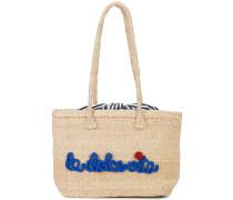 la dolce vita embroidered tote bag