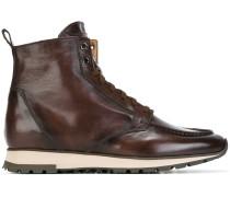 Sneaker-Schnürstiefel aus Leder