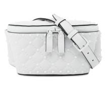 Leather Rockstud Spike belt bag