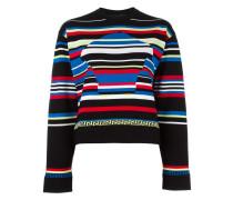 striped Medusa Head motif jumper
