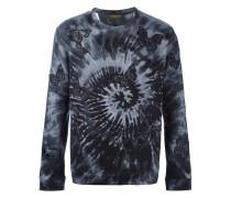'Rockstud Tie&Dye' Sweatshirt mit aufgestickten Schmetterlingen