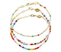 Set aus drei El Dorado Perlenarmbändern