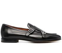 Monk-Schuhe mit mandelförmiger Kappe