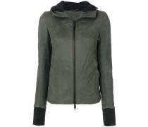 slim-fit hooded jacket
