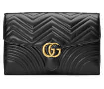 Black GG Marmont Leather clutch bag