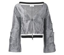 Cropped-Jacke im Metallic-Look - women