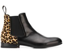 'Lexi' Chelsea-Boots mit Leo-Print