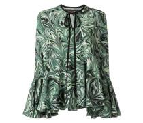 'Marble Haze' Bluse mit Volants