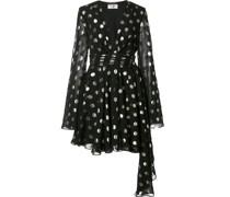 Gepunktetes Kleid mit asymmetrischem Schnitt