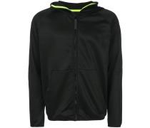 contrast trim hooded jacket