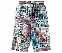 Knielange Shorts mit grafischem Print