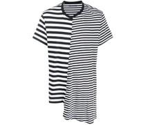 Asymmetrisches T-Shirt mit Streifen