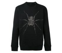Pullover mit Spinnen-Stickerei