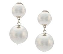 bold bead clip on earrings