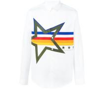 Hemd mit gestreiftem Stern-Print