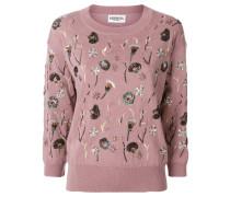 Merino-Pullover mit floralen Motiven