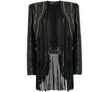 cropped fringe leather jacket