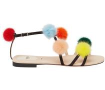 pom pom detailed sandals