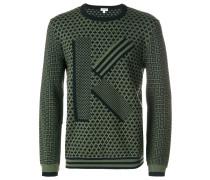 Pullover mit durchgehendem Print