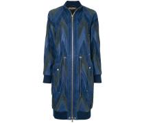 chevron pattern bomber coat