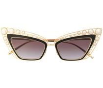 Cat-Eye-Sonnenbrille mit Perlen