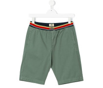 striped waistband shorts - kids - Baumwolle