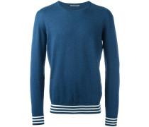 Sweatshirt mit gestreiftem Saum - men