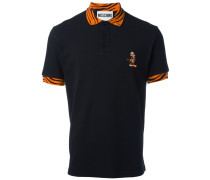Poloshirt mit Tiger-Stickerei