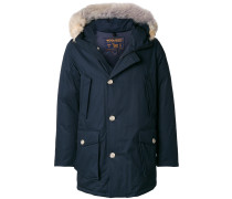 fur trim padded jacket