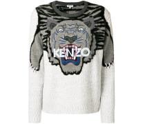 embroidered tiger jumper