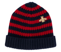Bee striped beanie hat