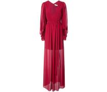 semi-sheer draped dress