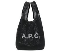 A.P.C. logo-print shopping tote