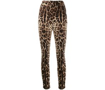 Cropped-Hose mit Leopardenmuster