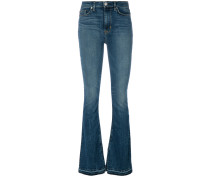 Taillenhohe Bootcut-Jeans