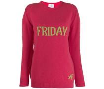 """Intarsien-Pullover mit """"Friday""""-Schriftzug"""