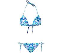 printed triangle bikini set