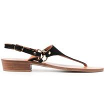 Sandalen mit Wildledereinsätzen
