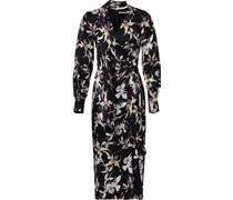 Jacquard-Kleid aus Seide